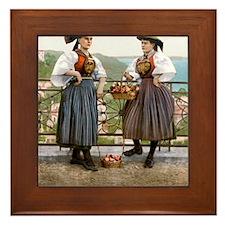 Vierlaender_Tracht_Hamburg_1900 Framed Tile