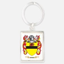 Emes Coat of Arms Portrait Keychain