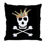 Pirate Royalty Throw Pillow