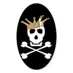 Pirate Royalty Oval Sticker