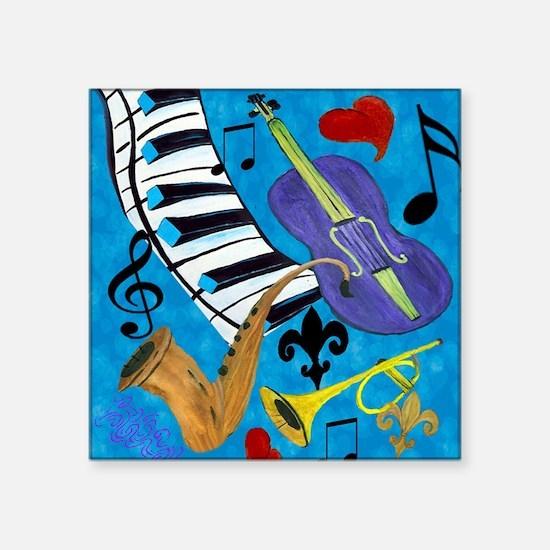 "Jazz Square Sticker 3"" x 3"""