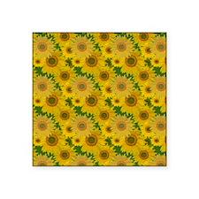 "Sunflowers Square Sticker 3"" x 3"""