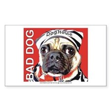 Bad Pug Rectangle Decal
