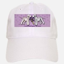 Bedlington Terriers on Purple Background Baseball Baseball Cap