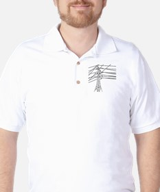 Id Rather Be Climbing white decal for d Golf Shirt