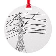 Id Rather Be Climbing white decal f Ornament