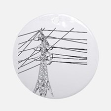 Id Rather Be Climbing white decal f Round Ornament
