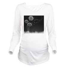 Dandelion Wishes Long Sleeve Maternity T-Shirt