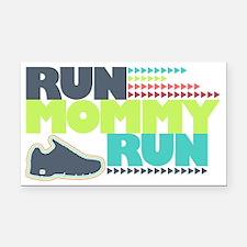 Run Mommy Run - Shoe Rectangle Car Magnet