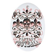 Fantasy Football Oval Ornament