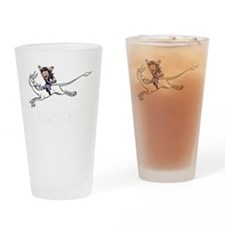 Leaping unicorn Drinking Glass