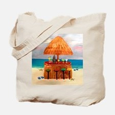 Beach Tiki Bar Tote Bag