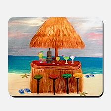 Beach Tiki Bar Mousepad