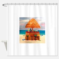 Beach Tiki Bar Shower Curtain