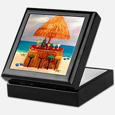 Beach Tiki Bar Keepsake Box