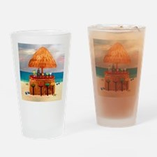 Beach Tiki Bar Drinking Glass