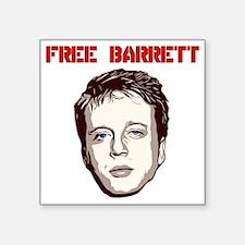 "Free Barrett Brown Square Sticker 3"" x 3"""