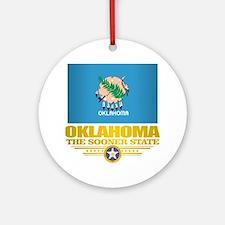 Oklahoma Flag Round Ornament
