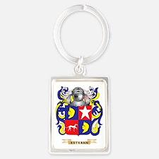 Esteban Coat of Arms Portrait Keychain