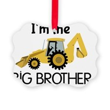 Im the Big Brother Backhoe Constr Picture Ornament