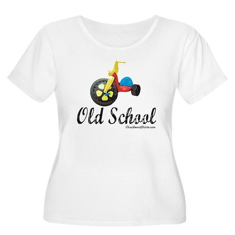 Old School Women's Plus Size Scoop Neck T-Shirt