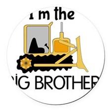 Im the Big Brother Bulldozer Round Car Magnet