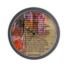 """""""Robert F. Kennedy Quote"""" Wall Clock"""