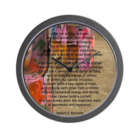 """Robert F. Kennedy Quote"" Wall Clock"