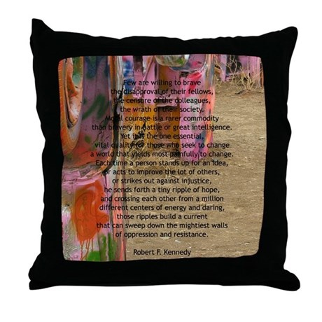 """""""Robert F. Kennedy Quote"""" Throw Pillow"""