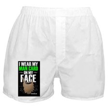 I Wear A Man Card On My Face Boxer Shorts