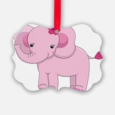Pink Baby Elephant Ornament