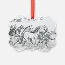 Running Horses Ornament