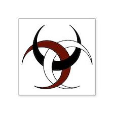 """Triple Crescent Moon - Red, Square Sticker 3"""" x 3"""""""