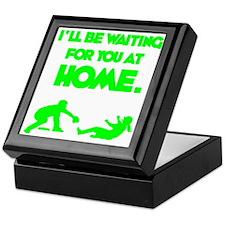 green2 Waiting on black Keepsake Box