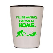 green2 Waiting on black Shot Glass