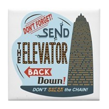 elevator-back-T Tile Coaster
