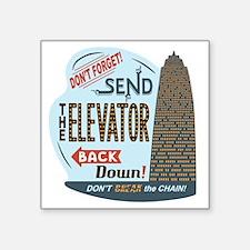 "elevator-back-T Square Sticker 3"" x 3"""