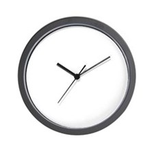 white Waiting on black Wall Clock