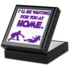 purple Waiting Keepsake Box