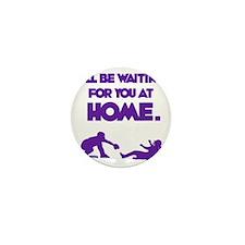 purple Waiting Mini Button