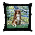 Bridge-Aussie Shep #4 Throw Pillow