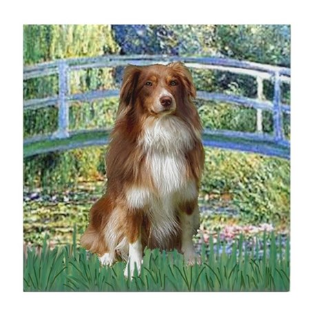Bridge-Aussie Shep #4 Tile Coaster