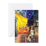 Cafe-AussieShep #4 Greeting Cards (Pk of 10)