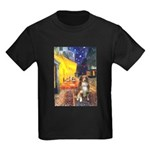 Cafe-AussieShep #4 Kids Dark T-Shirt