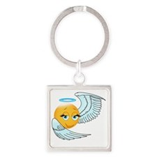 Cute smily an angel Square Keychain