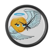 Cute smily an angel Large Wall Clock