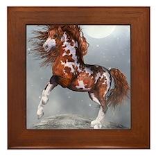 Native Horse Framed Tile