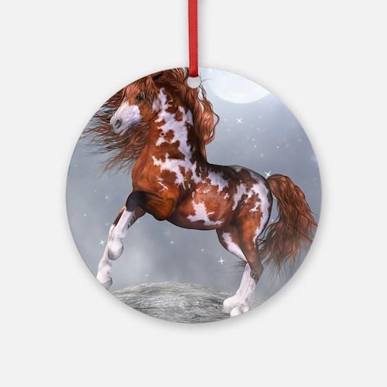 Native Horse Round Ornament