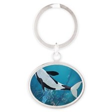 Orca II Oval Keychain