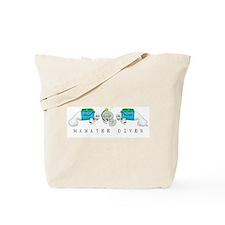 Manatee Diver Tote Bag